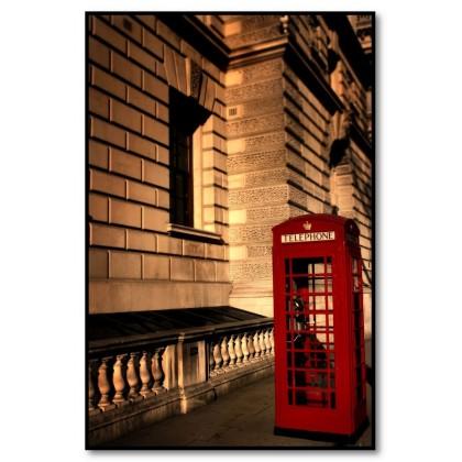 Αφίσα (Λονδίνο, τηλέφωνο, τηλεφωνικός θάλαμος, κόκκινος, κτίριο)